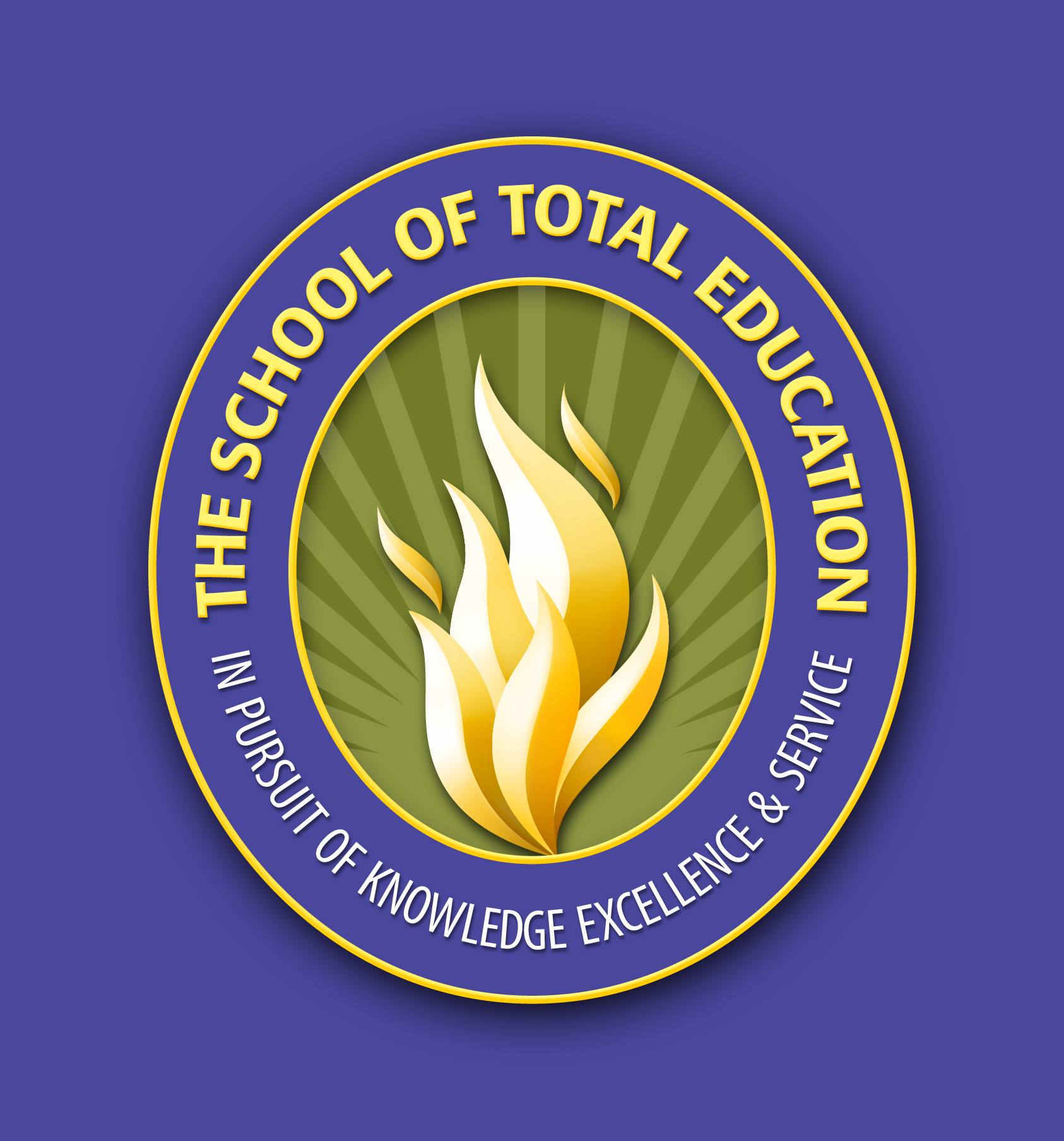 The School of Total Education校徽