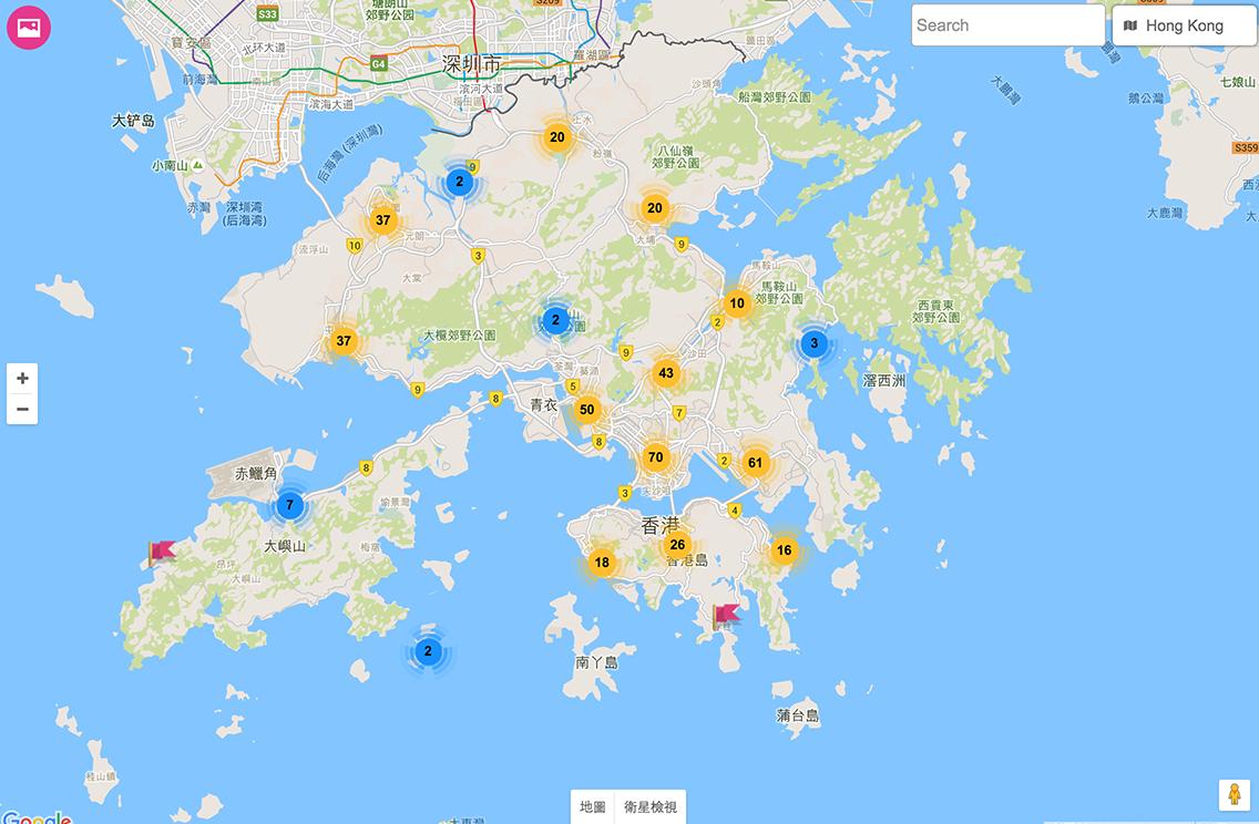 香港制服地圖