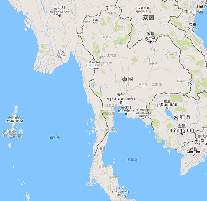 泰國制服地圖