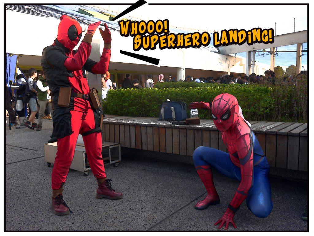 superhero landing