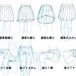 百褶裙的各種畫法
