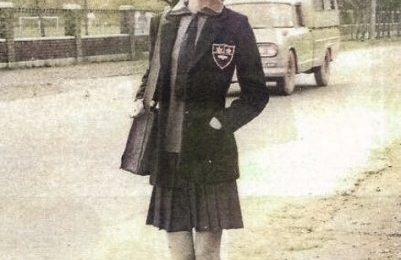 日本網友熱議,年輕時候的林青霞與淡江高中制服