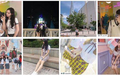 韓國首爾的梨花校服的制服租借服務